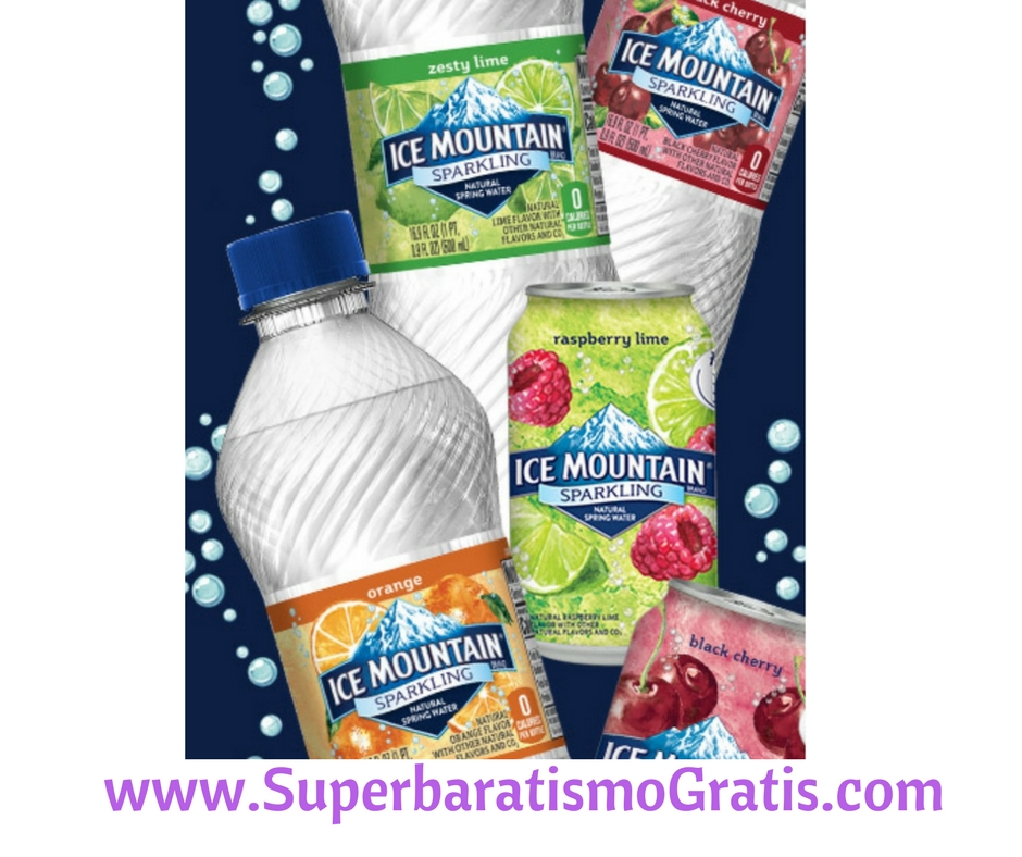 GRATIS Sparkling Ice Mountain Brand Natural Spring Water