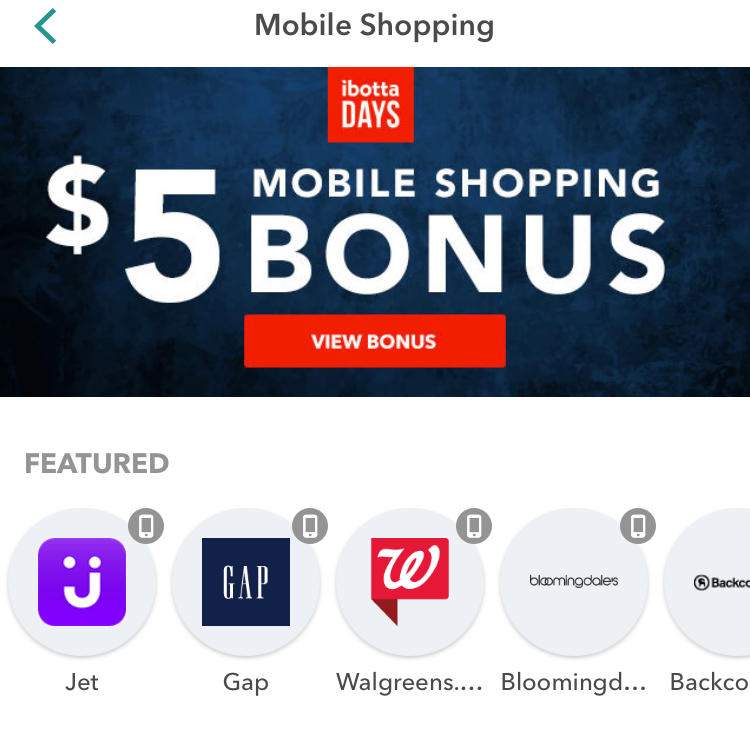 GRATIS $5 con Ibotta Mobile Shopping