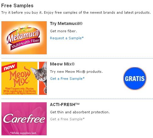 muestras GRATIS en Walmart