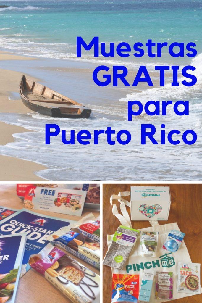 muestras gratis para Puerto Rico