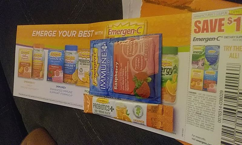 GRATIS muestra de vitaminas Emergen-C Drink