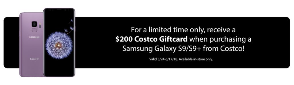 $200 Gift Card Samsung Galaxy S9 Offer