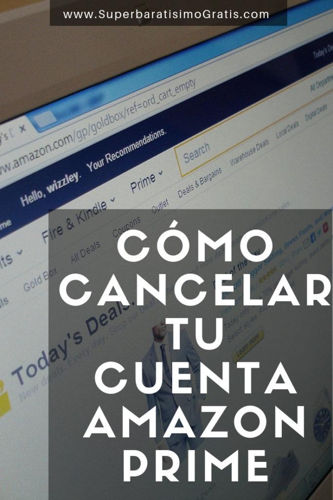 Cómo cancelar tu cuenta de Amazon Prime