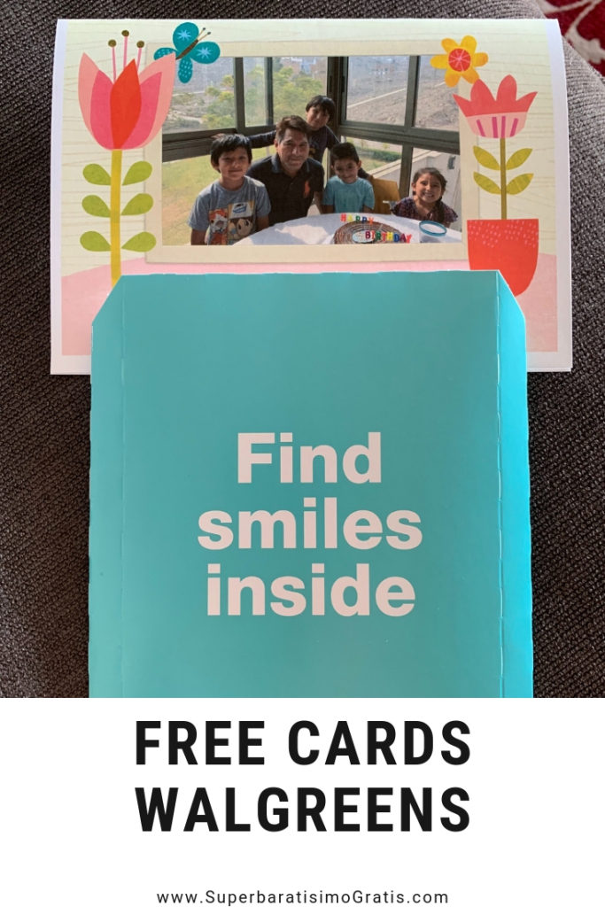 "GRATIS 5""x7"" Folded Custom Photo Card en Walgreens"