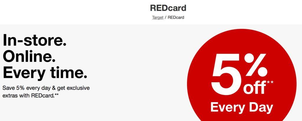 GRATIS doble descuentos de 5% con la Target REDcard