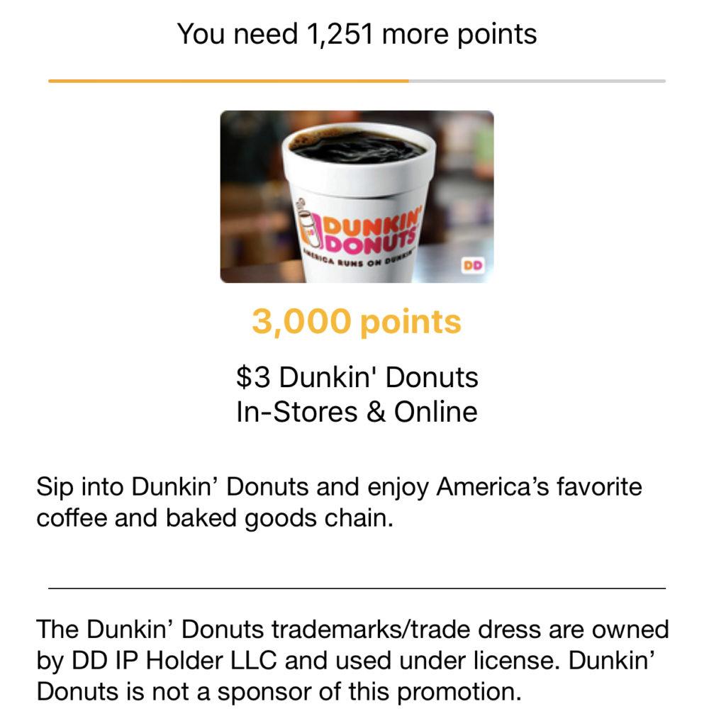 GRATIS $3 Dunkin Donuts Gift Card con la app Fetch Rewards