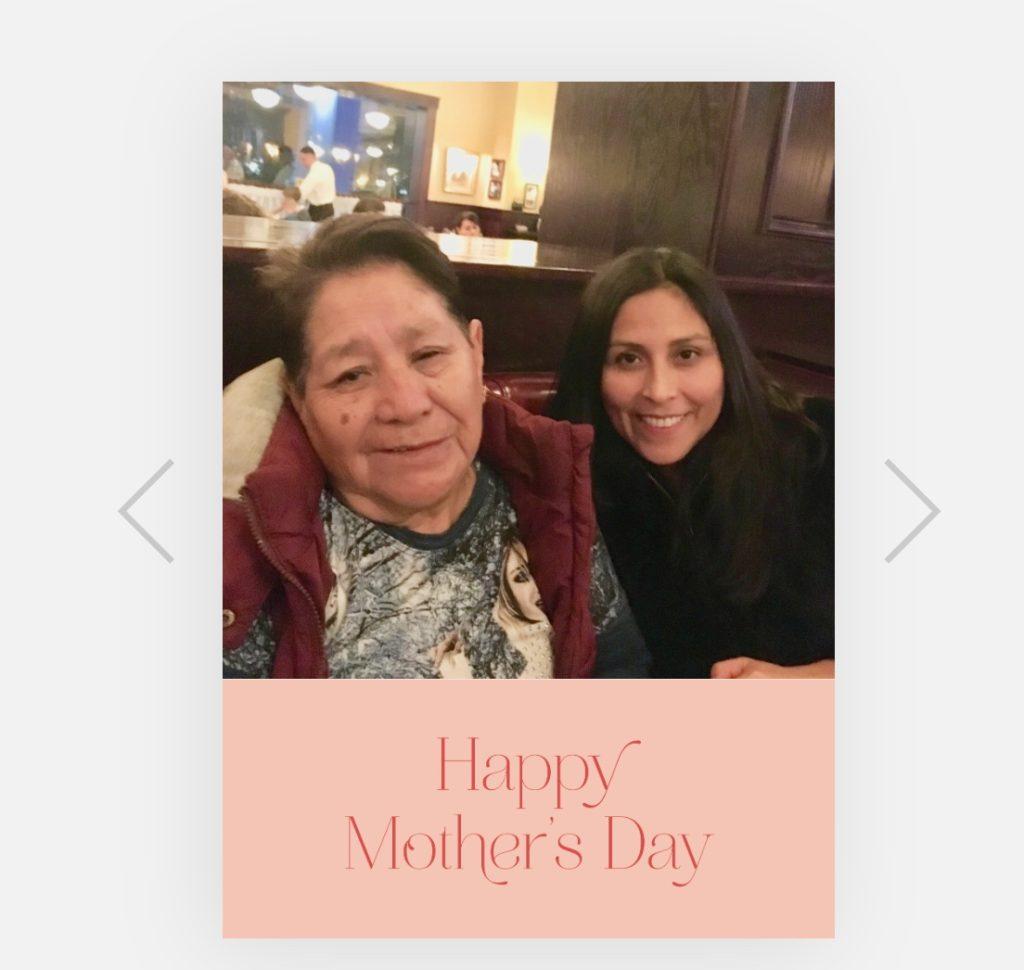 GRATIS tarjeta personalizada por el Día de las Madre