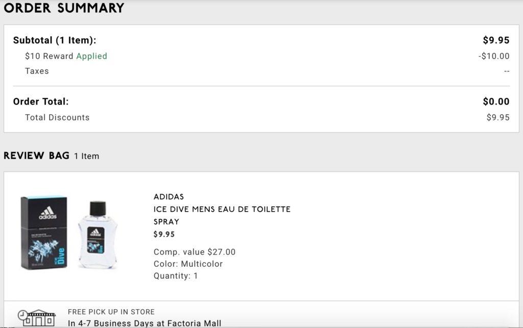 Recibo de mi compra en DSW. NO pague nada.