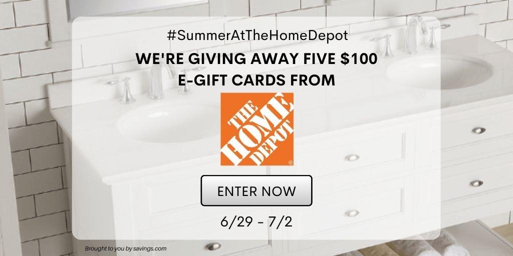 Sorteo: Gana una tarjeta de regalo Home Depot